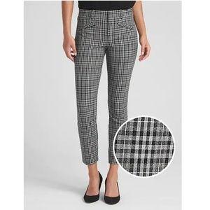NWOT Gap Ankle Bi-Stretch Plaid Pants Size 8 v122
